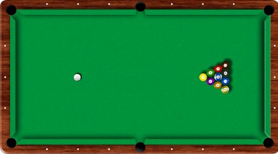 10-ball begin opstelling
