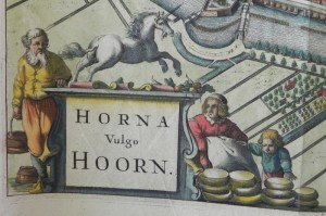 Johannes Janssonius - Horna Vulga Hoorn - 1690