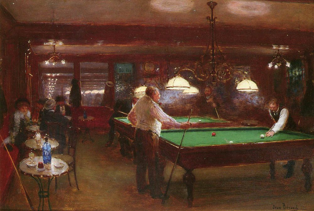 Jean Beraud A Game of Billiards